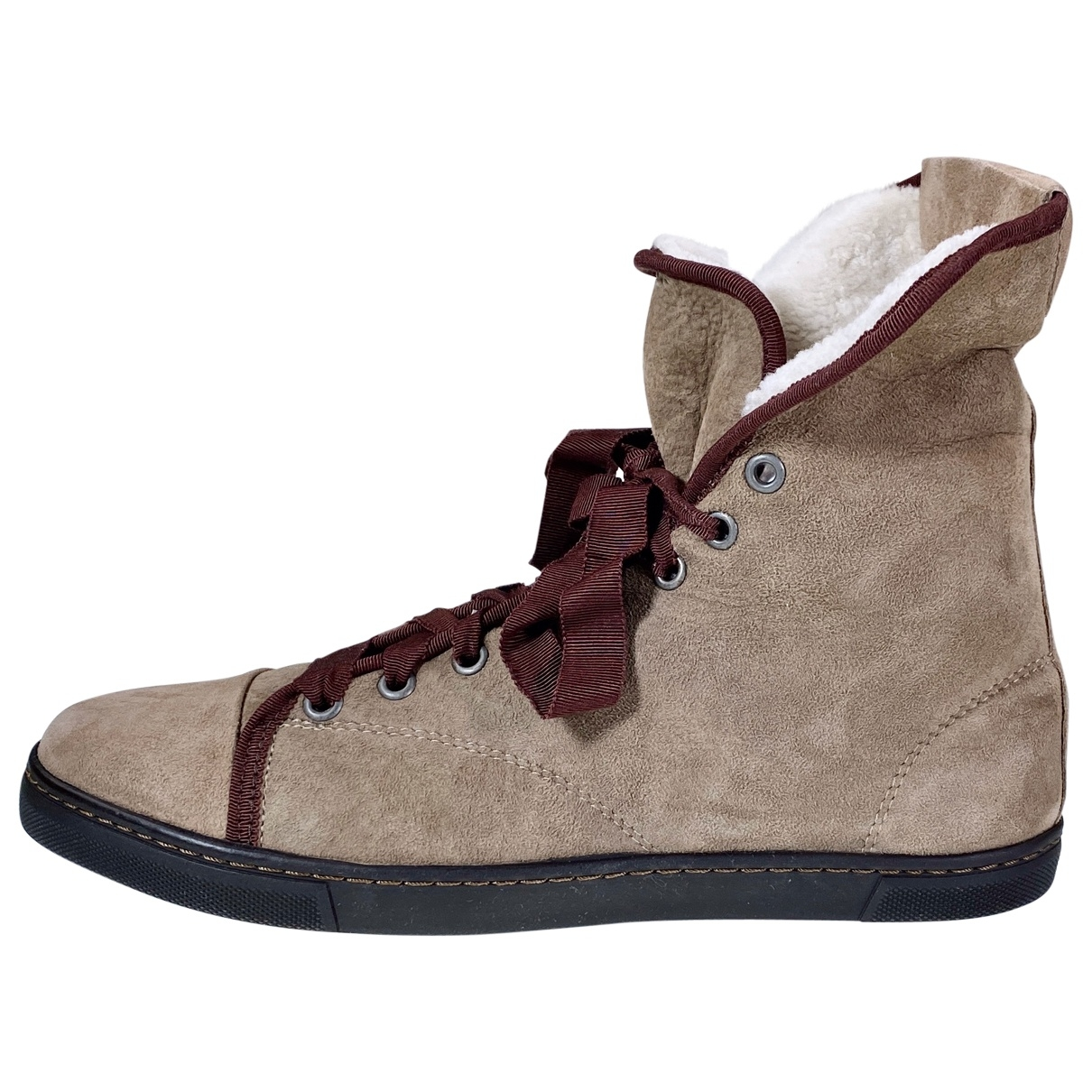 Lanvin \N Sneakers in  Beige Schaf