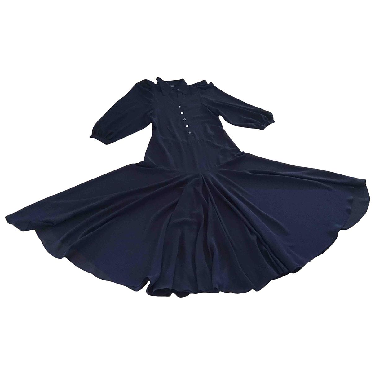 - Robe Manche ballon pour femme - marine