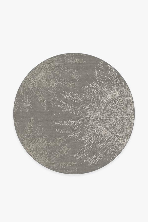Washable Rug Cover & Pad | Jellyfish Bloom Silver Rug | Stain-Resistant | Ruggable | 6' Round