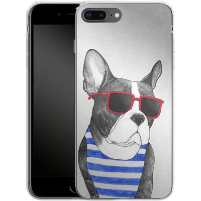 Apple iPhone 8 Plus Silikon Handyhuelle - Frenchie Summer Style von Barruf