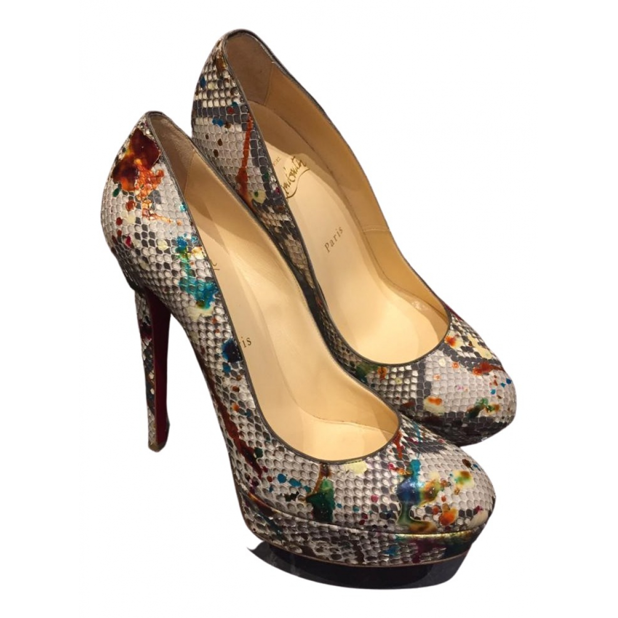 Christian Louboutin \N Pumps in  Bunt Python