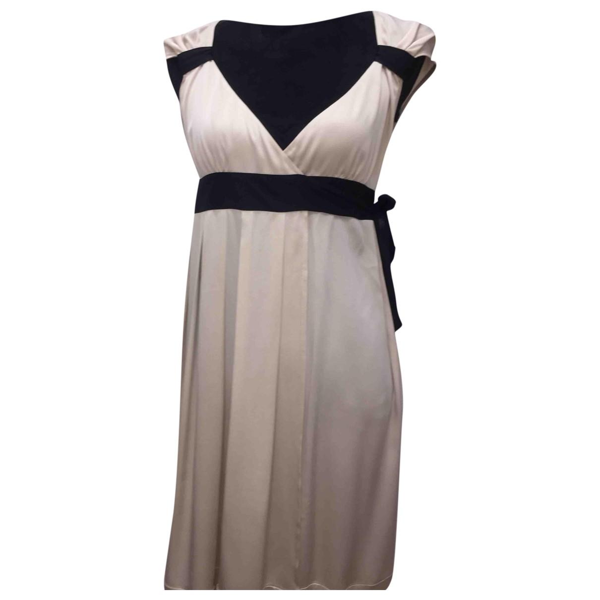 Diane Von Furstenberg \N Ecru Silk dress for Women 2 US