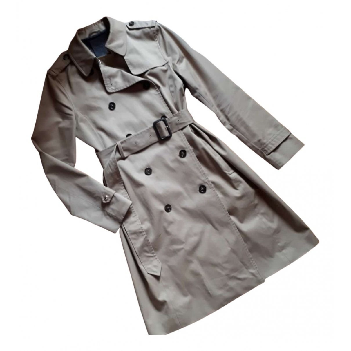 Massimo Dutti \N Trench in  Kamel Baumwolle