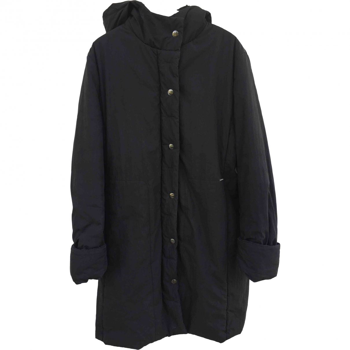Valentino Garavani \N Black Cotton coat for Women 44 IT