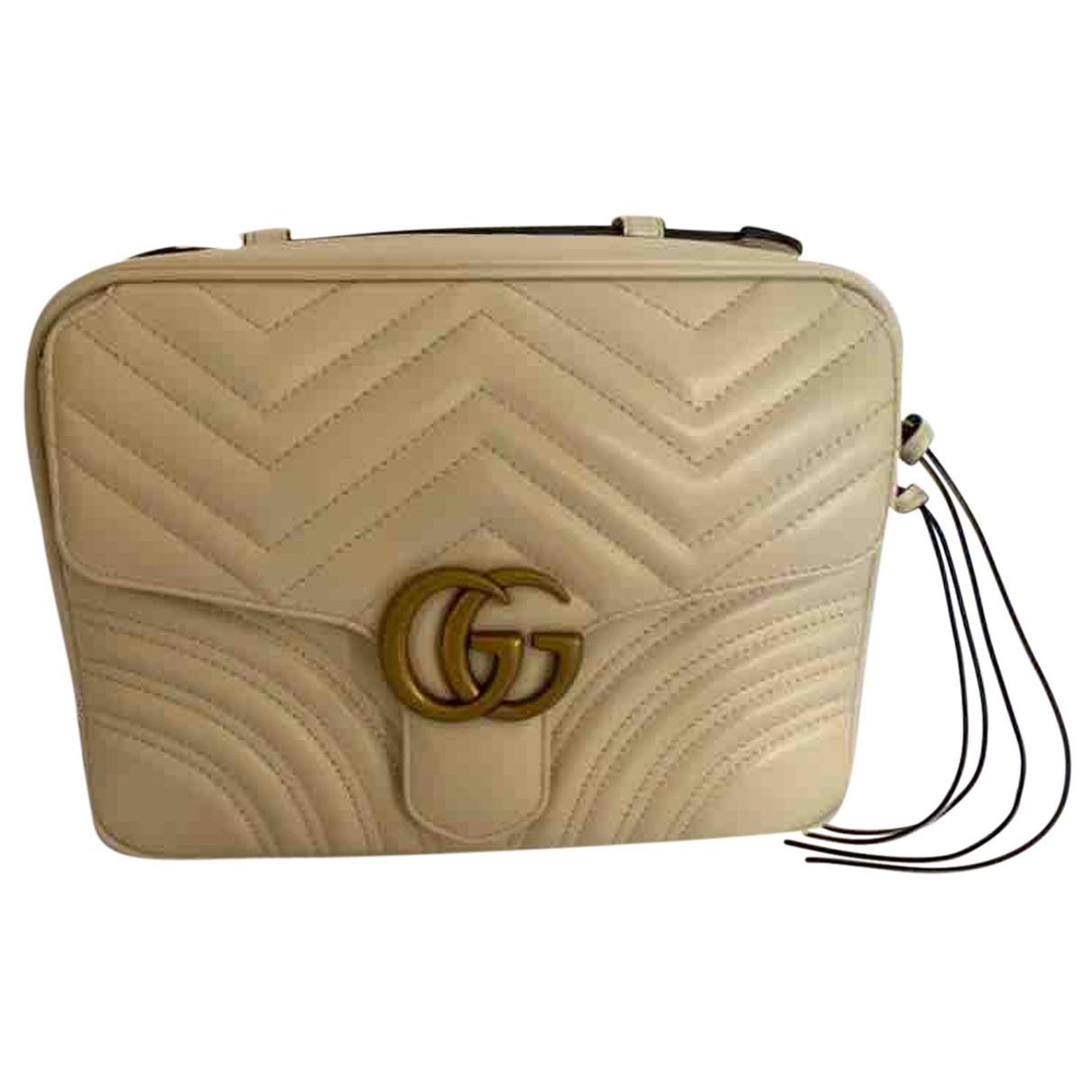 Gucci - Sac a main Marmont pour femme en cuir - blanc