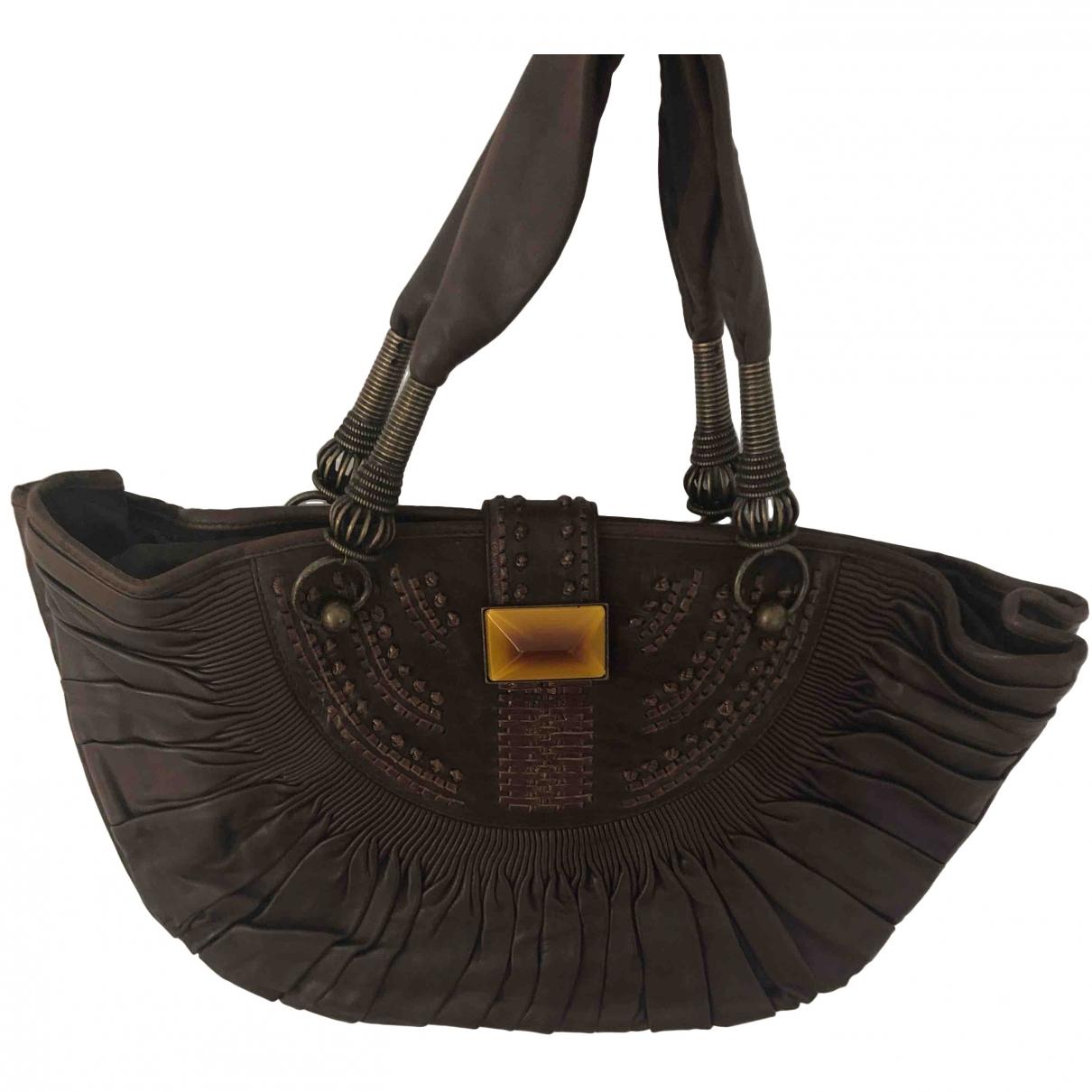 Dior \N Brown Leather handbag for Women \N