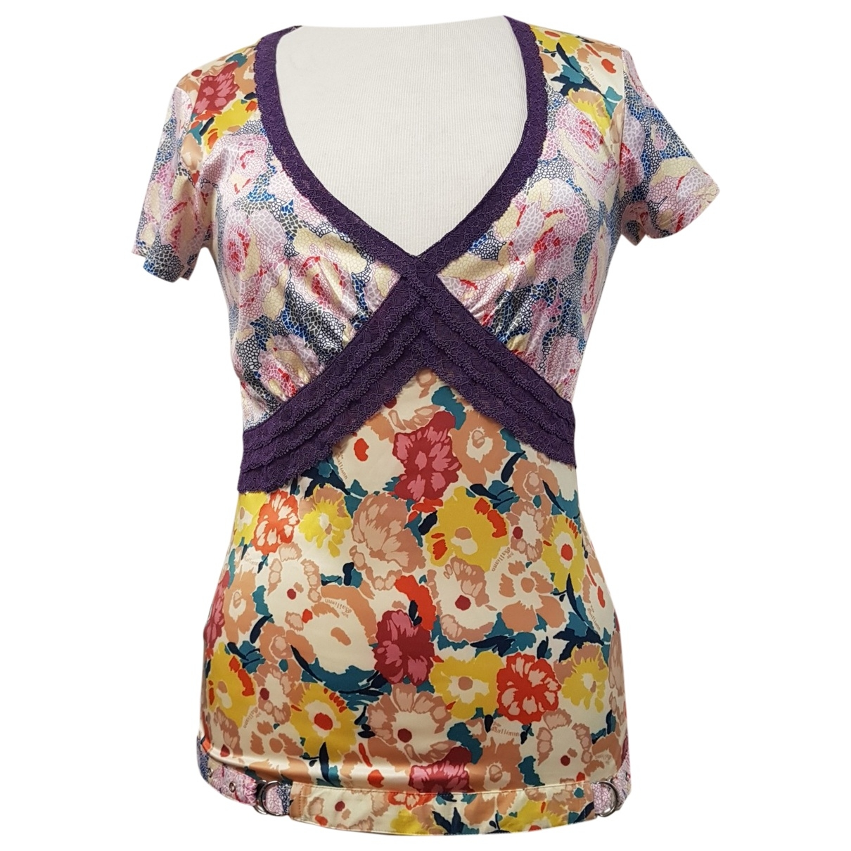 John Galliano \N Multicolour Silk  top for Women M International