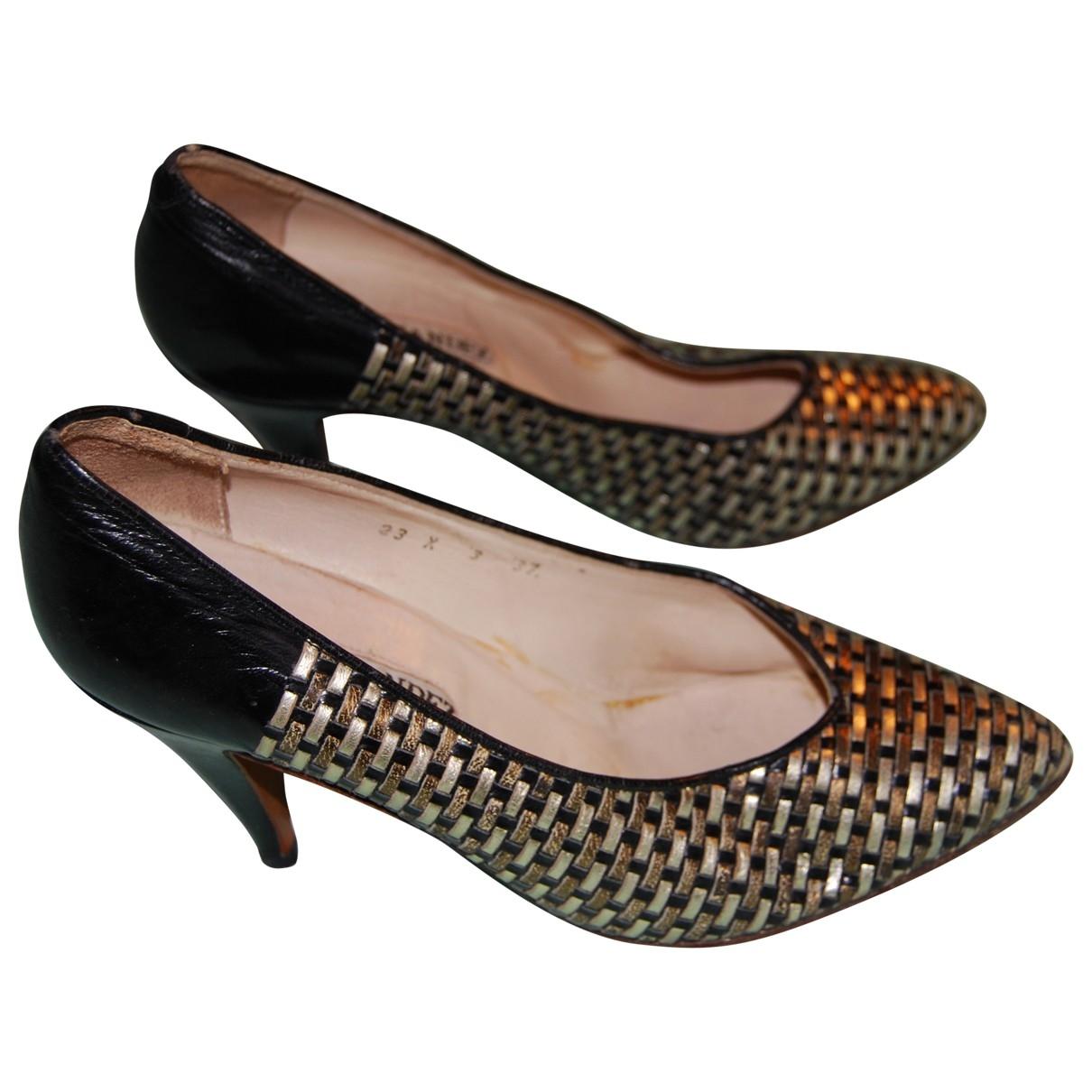 - Escarpins   pour femme en cuir - argente