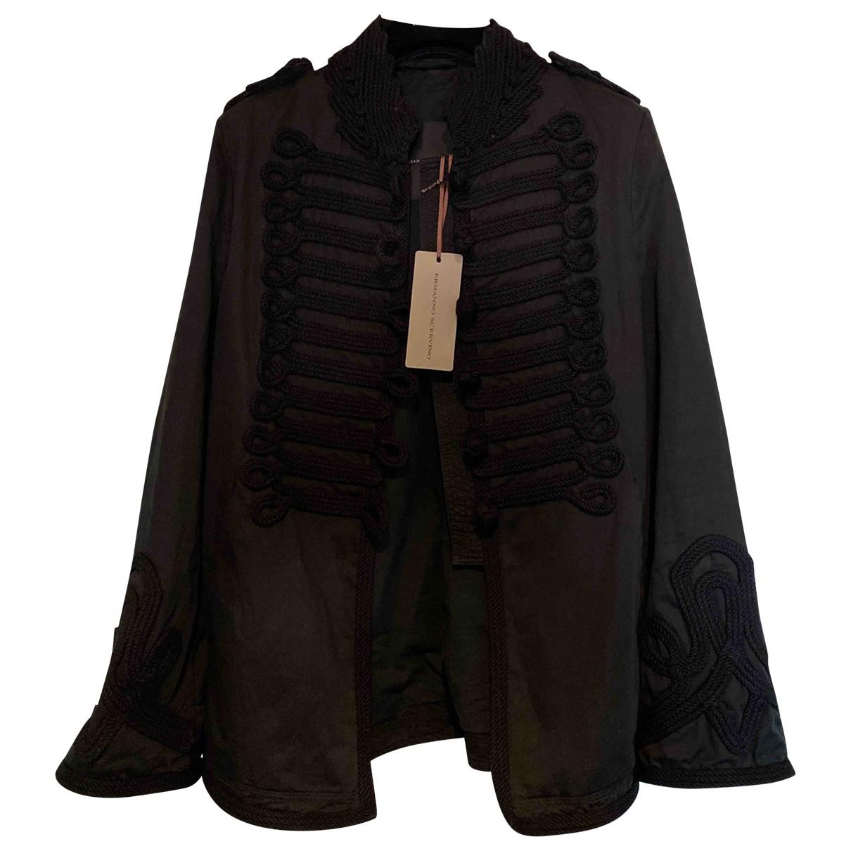 Ermanno Scervino - Manteau   pour femme en coton - noir