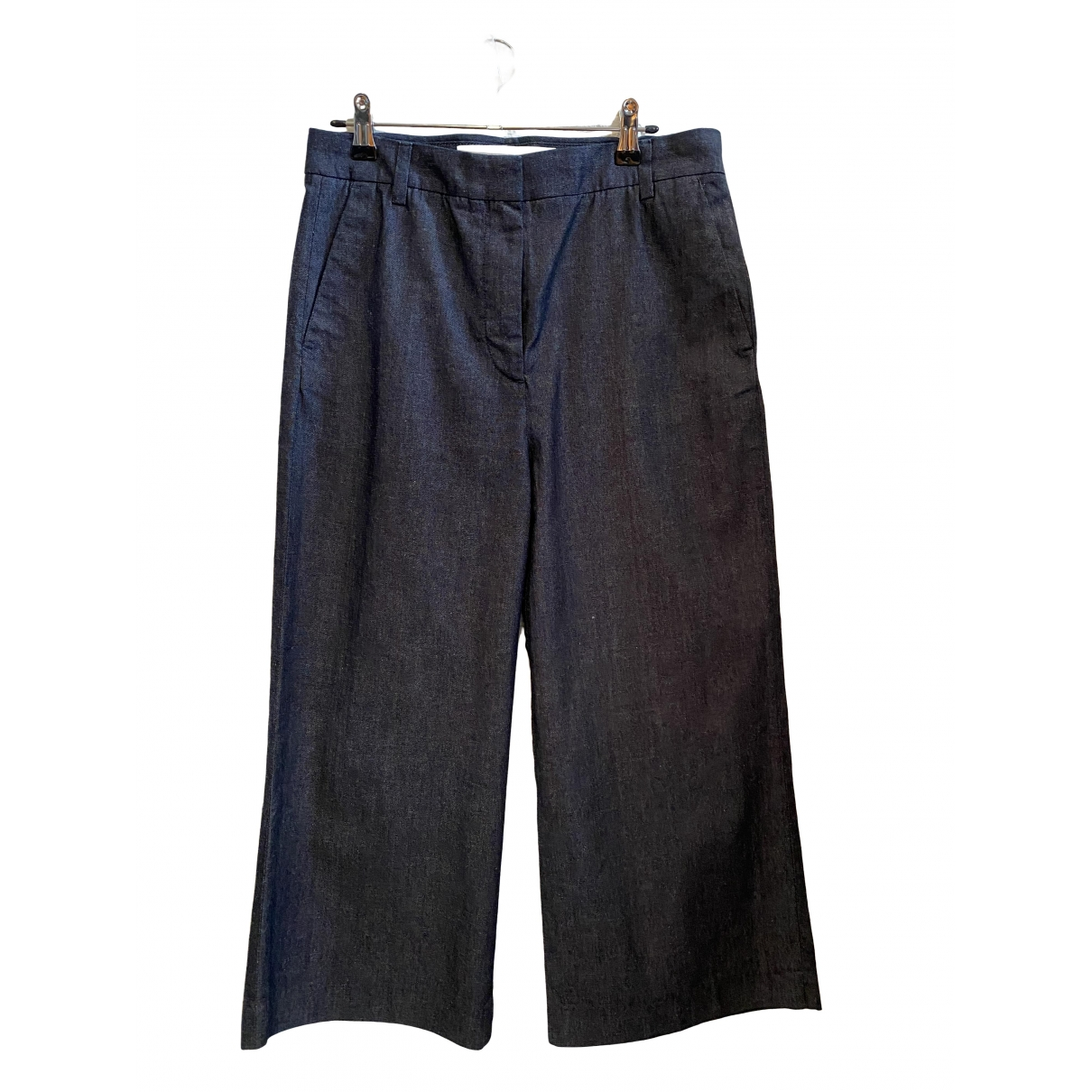 Victoria, Victoria Beckham \N Navy Cotton Trousers for Women 8 UK