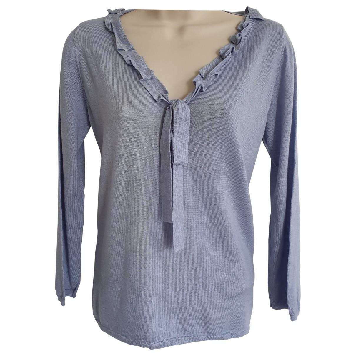 Prada \N Blue Wool Knitwear for Women 46 IT
