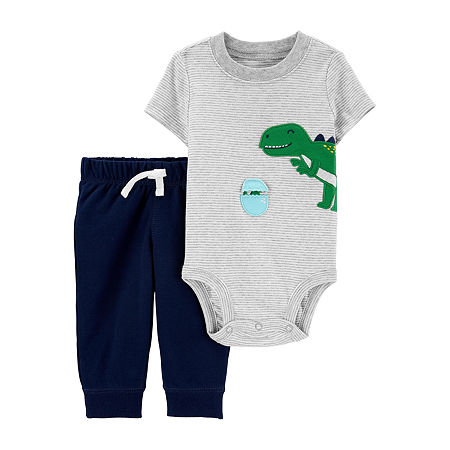 Carter's Baby Boys Bodysuit Set, 18 Months , Gray