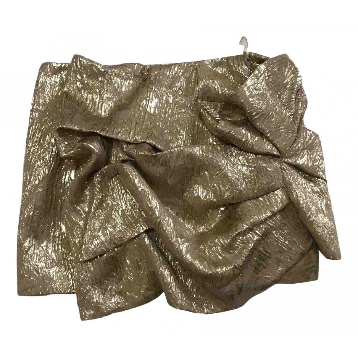 N°21 - Jupe   pour femme en soie - dore