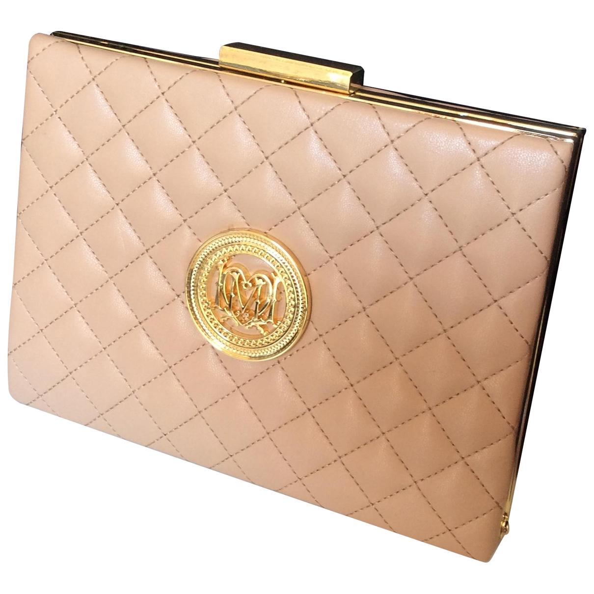 Moschino Love \N Handtasche in  Rosa Leder