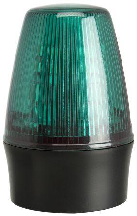 Moflash LEDS100 Green LED Beacon, 40 → 380 V dc, 85 → 285 V ac, Flashing, Surface Mount, Wall Mount