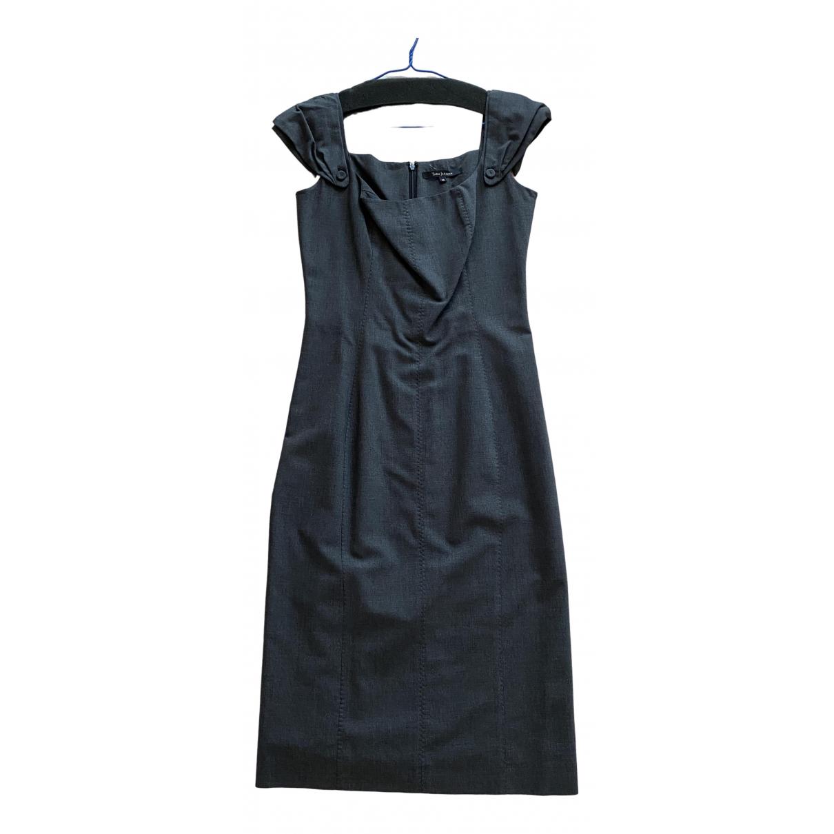 Tara Jarmon \N Grey Wool dress for Women 38 FR