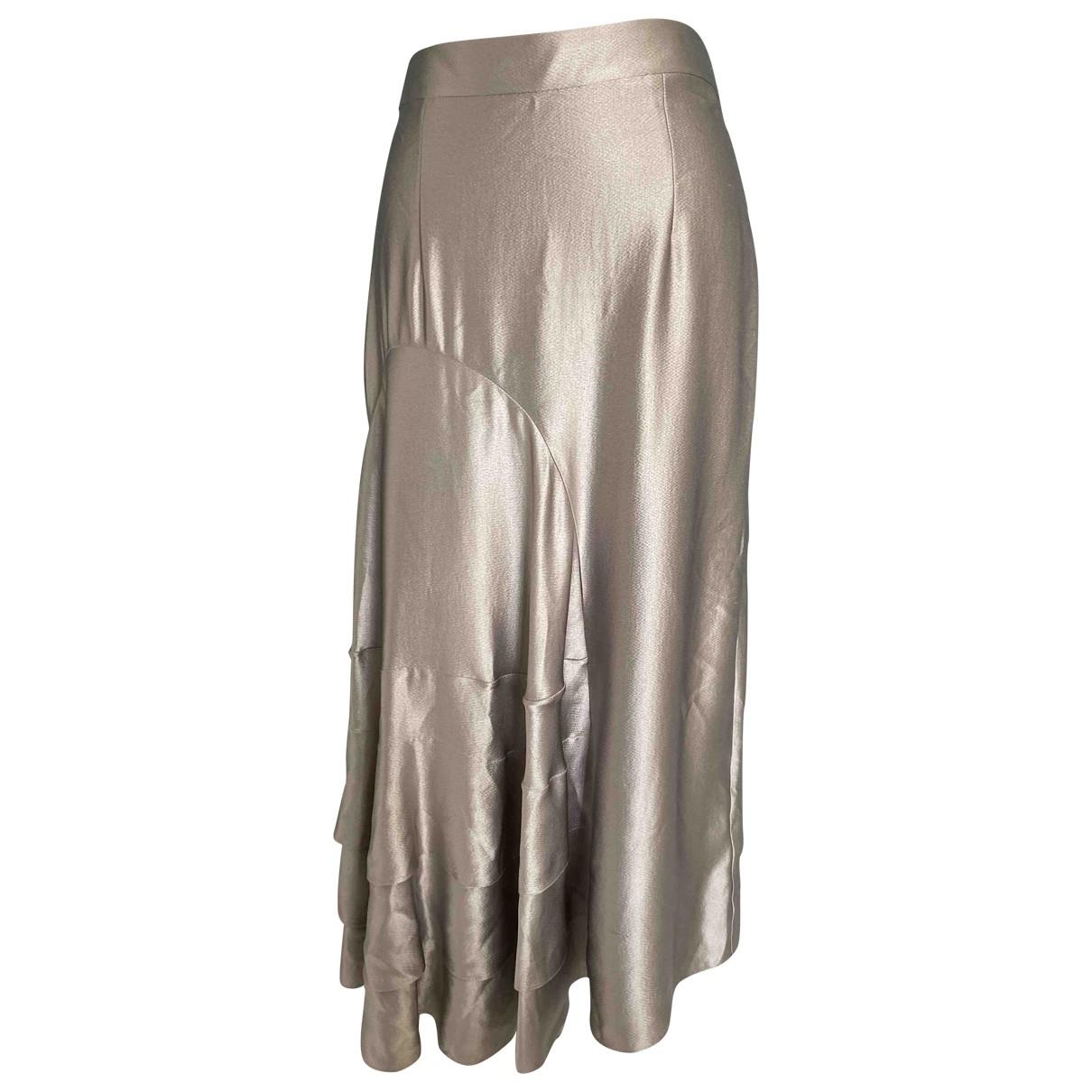 Roksanda \N Metallic Silk skirt for Women 14 UK