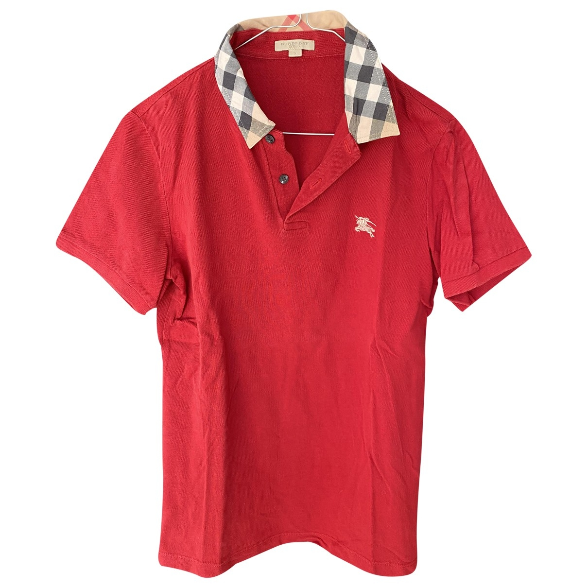 Burberry \N Red Cotton Polo shirts for Men S International