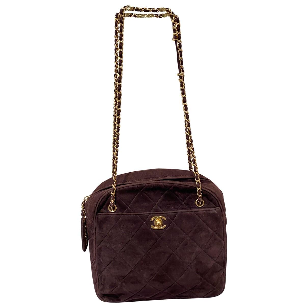 Chanel - Sac a main   pour femme en suede - violet