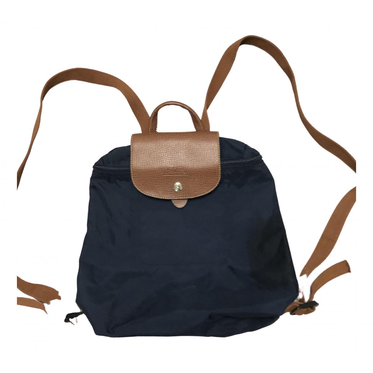 Longchamp Pliage  Blue backpack for Women \N