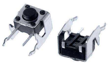 Alps Alpine Black Stem Tactile Switch, Single Pole Single Throw (SPST) 50 mA @ 12 V dc 3.85mm (20)