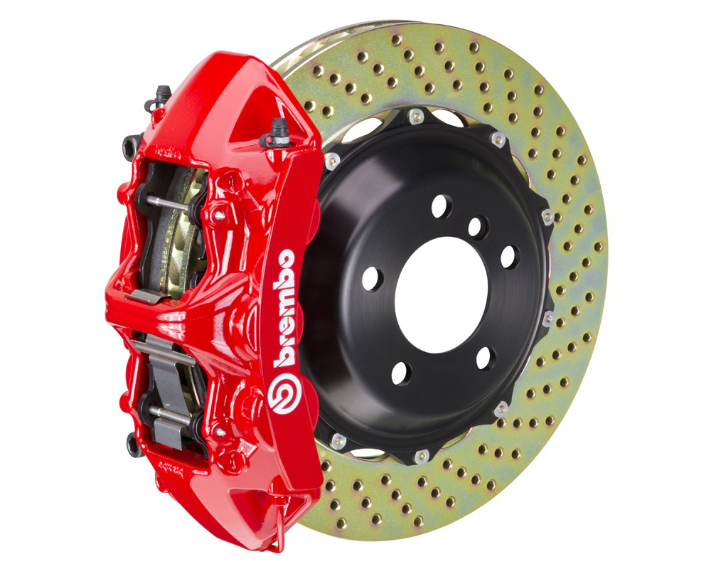 Brembo GT 355x32 2-Piece 6 Piston Red Drilled Front Big Brake Kit