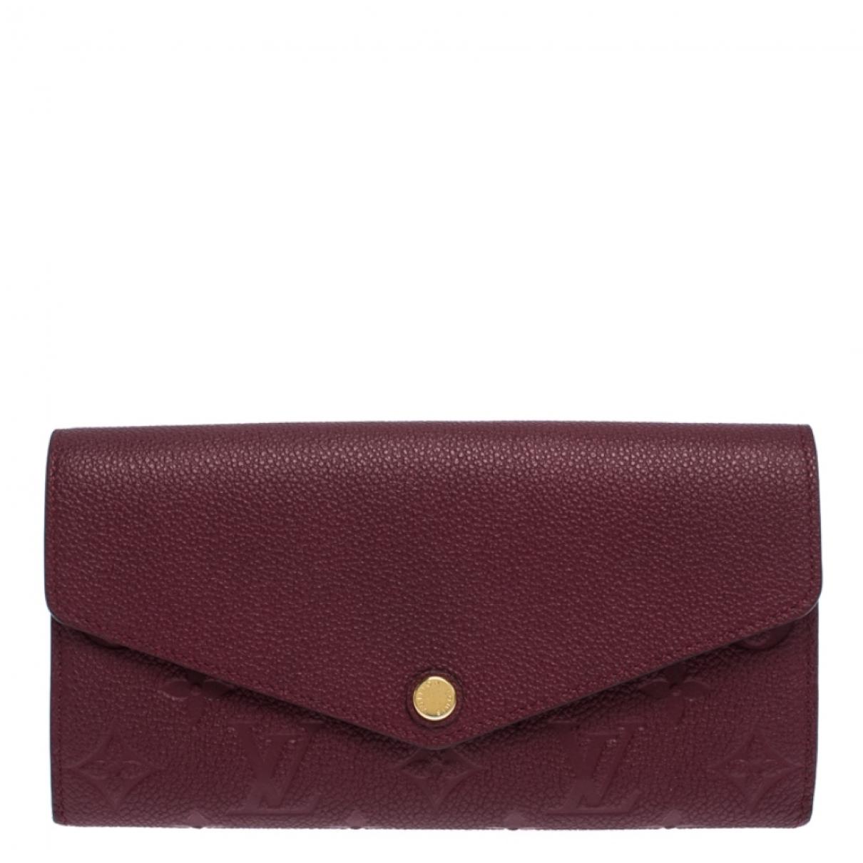 Louis Vuitton - Portefeuille   pour femme en cuir - bordeaux