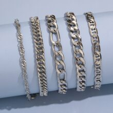 Guys 5pcs Chain Bracelet