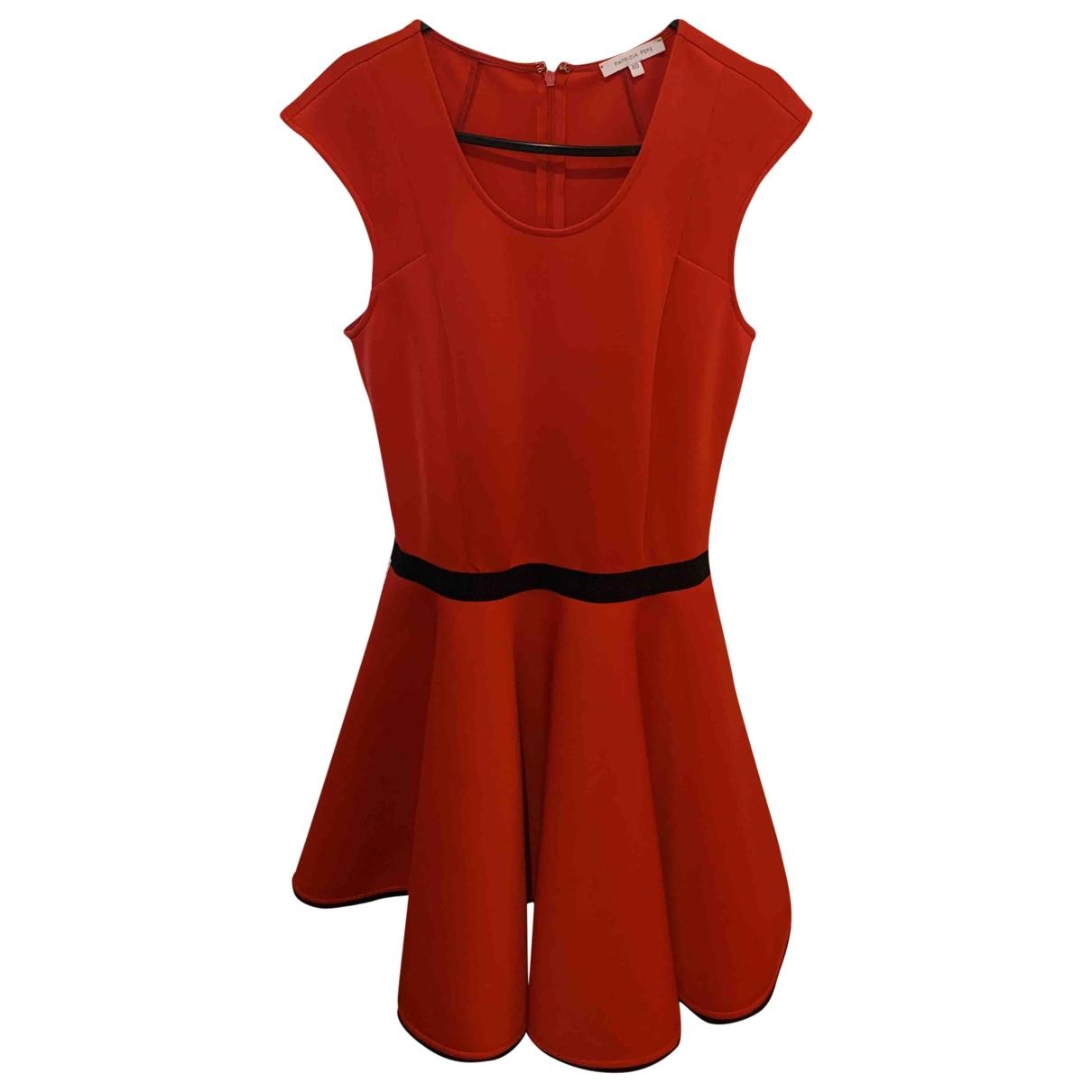 Patrizia Pepe \N Kleid in  Rot Baumwolle - Elasthan