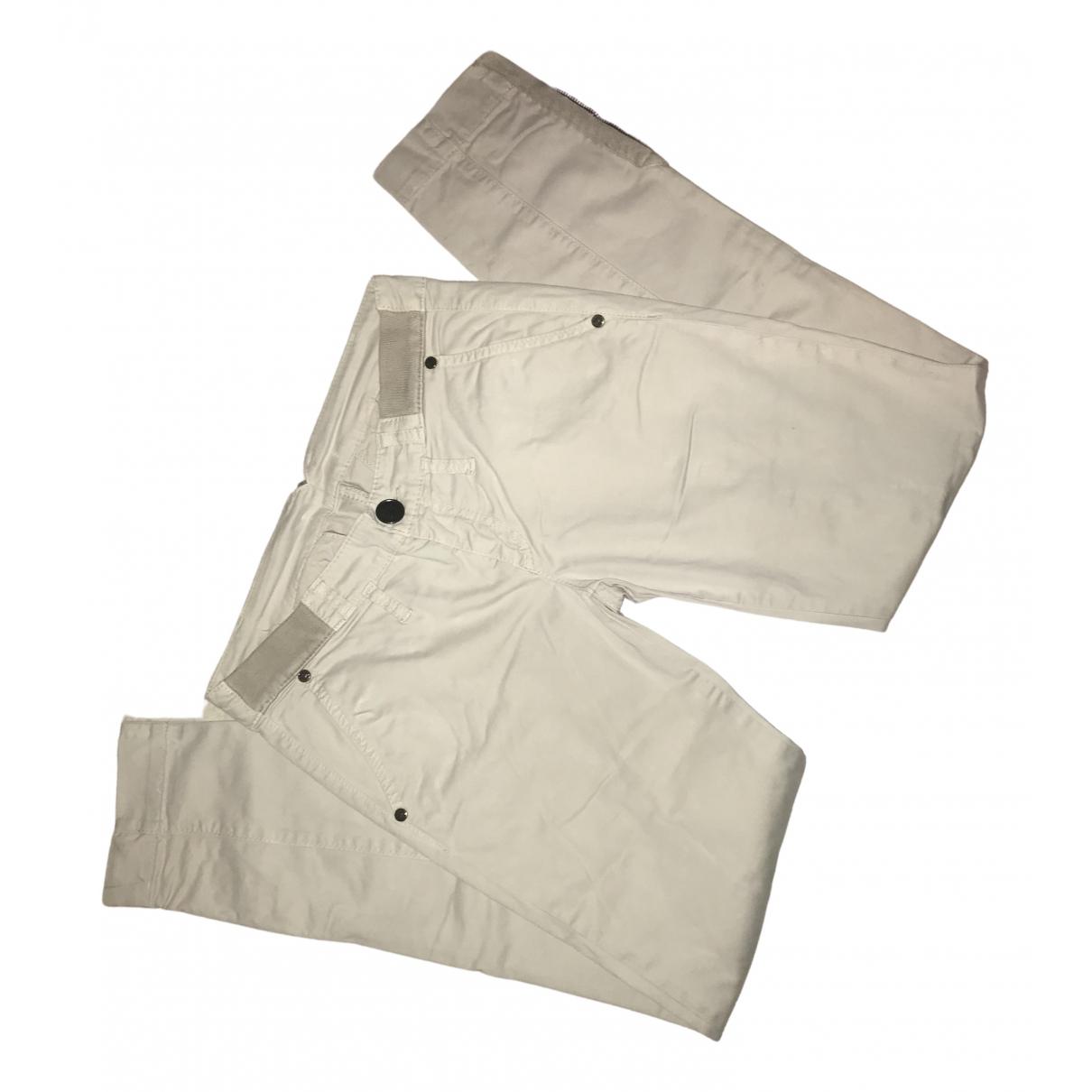 Pantalon en Algodon Beige Liu.jo