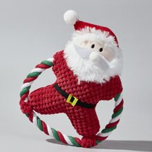 Christmas Santa Plush Dog Toy