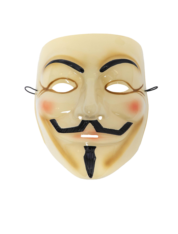 Kostuemzubehor Maske Anonym Farbe: schwarz/weiss
