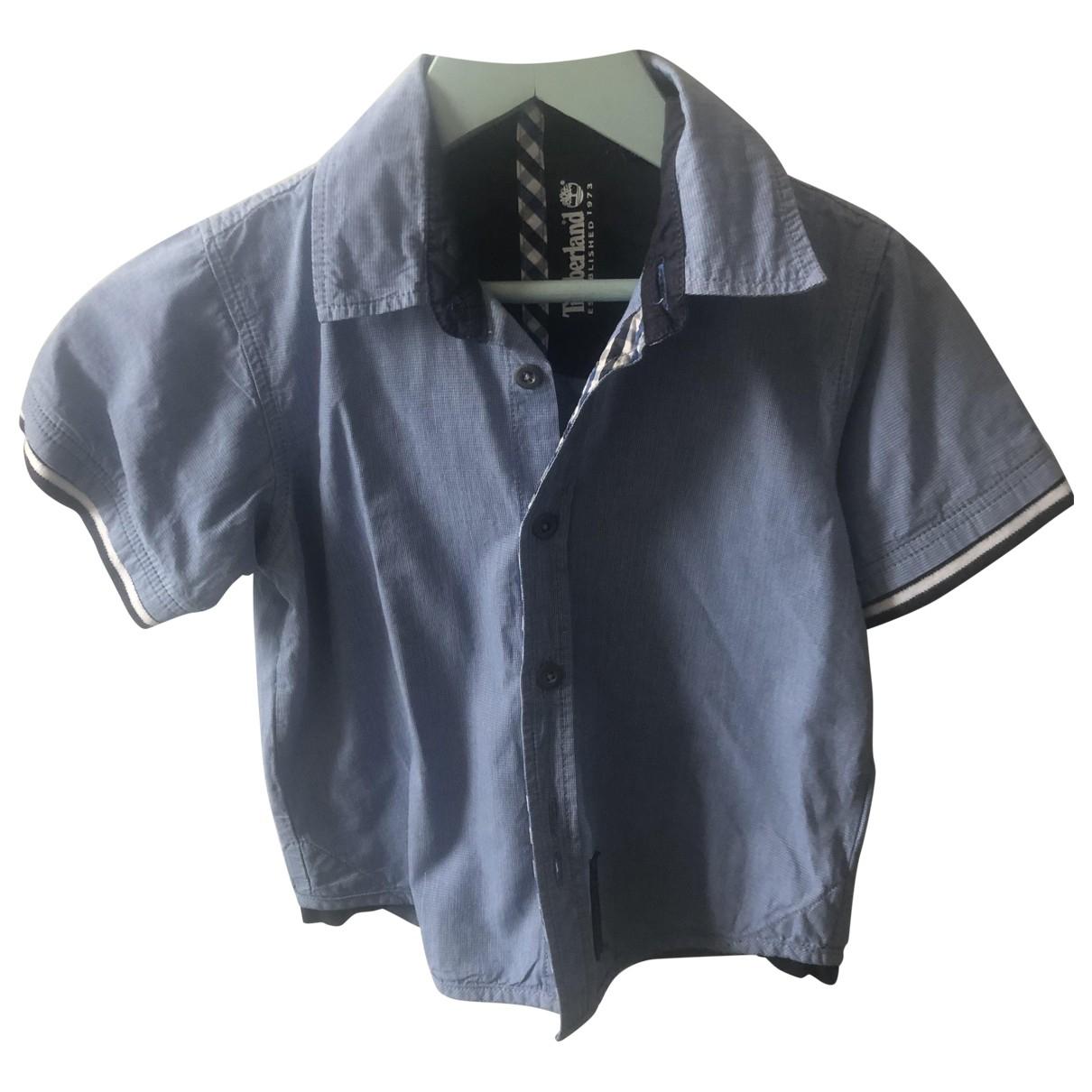 Timberland - Top   pour enfant en coton - bleu