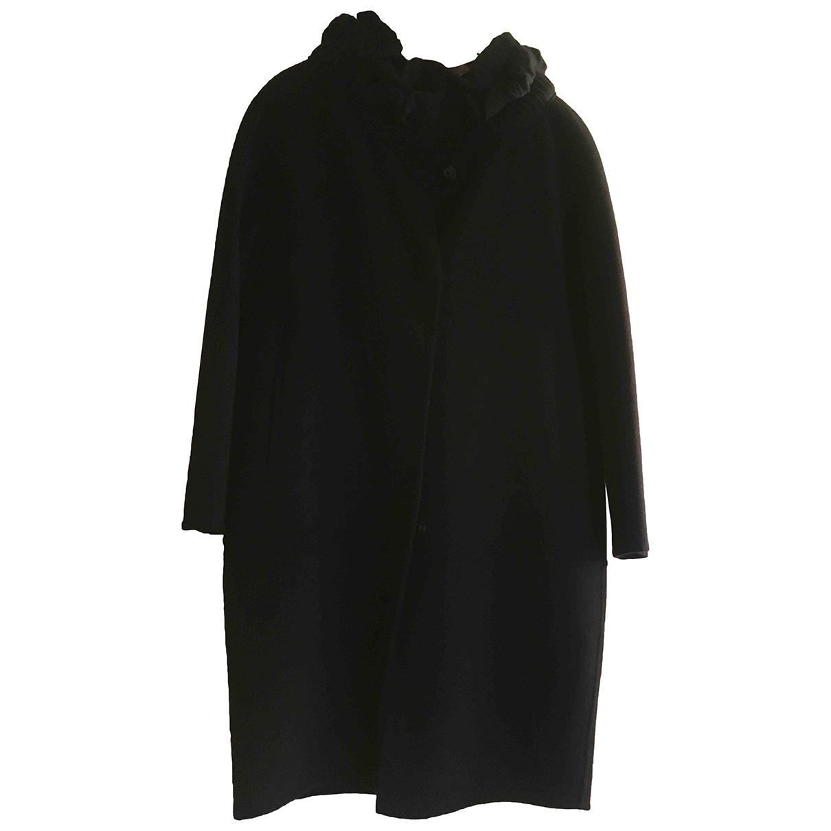 Ermanno Scervino \N Blue Wool coat for Women 42 IT