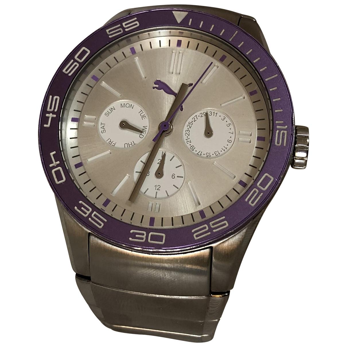 Puma \N Uhr in  Silber Stahl