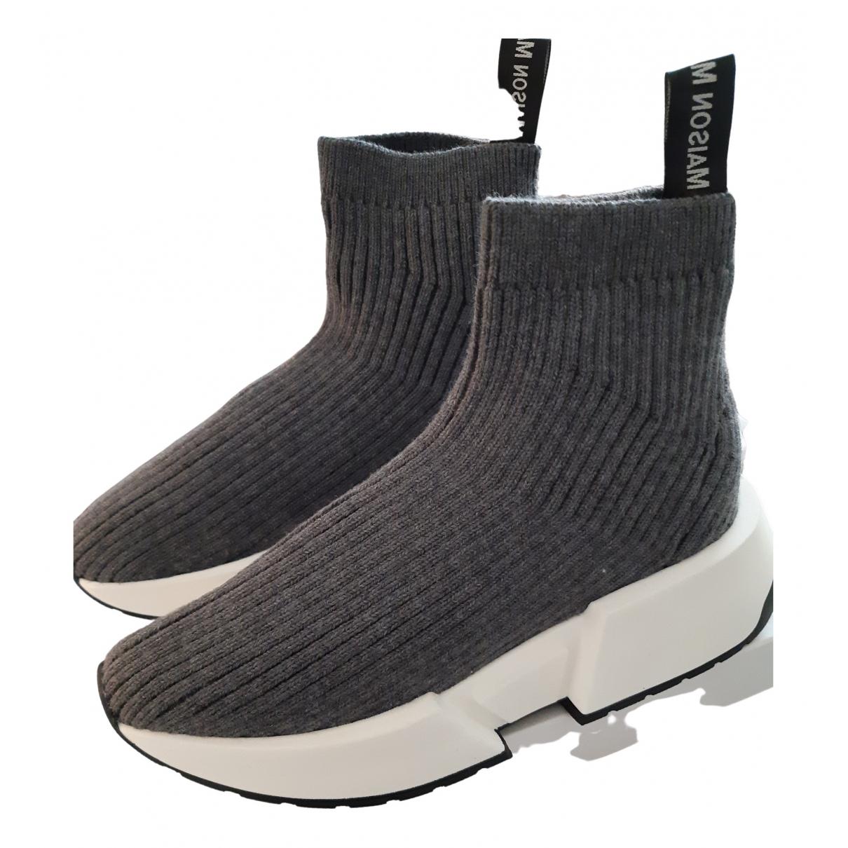 Mm6 \N Sneakers in  Grau Leinen