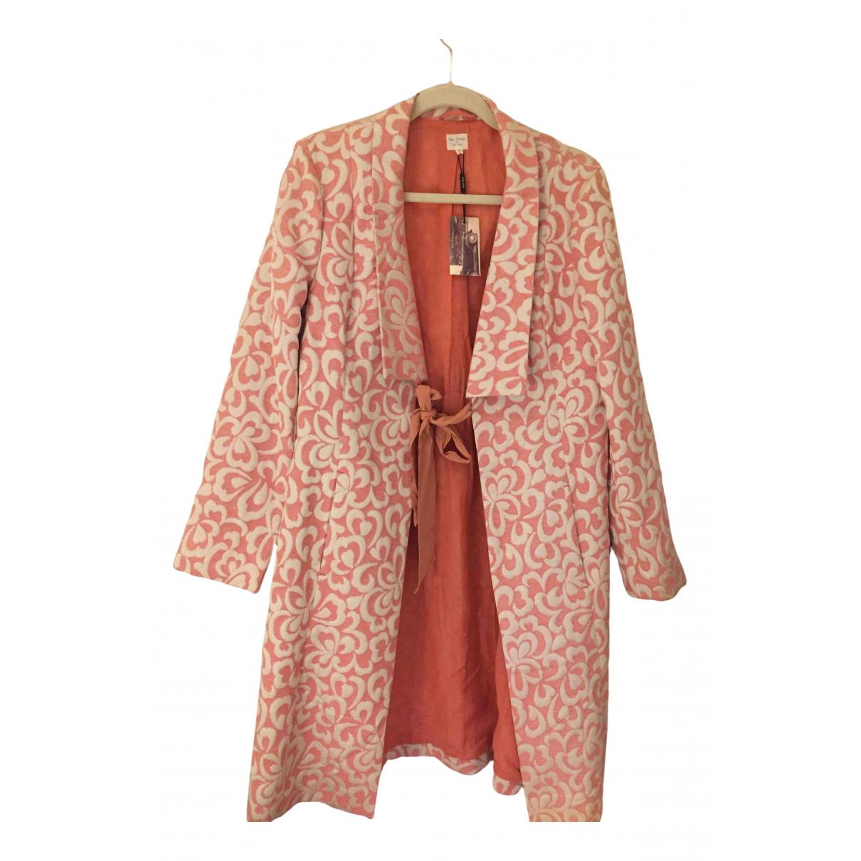 - Manteau   pour femme en soie - rose