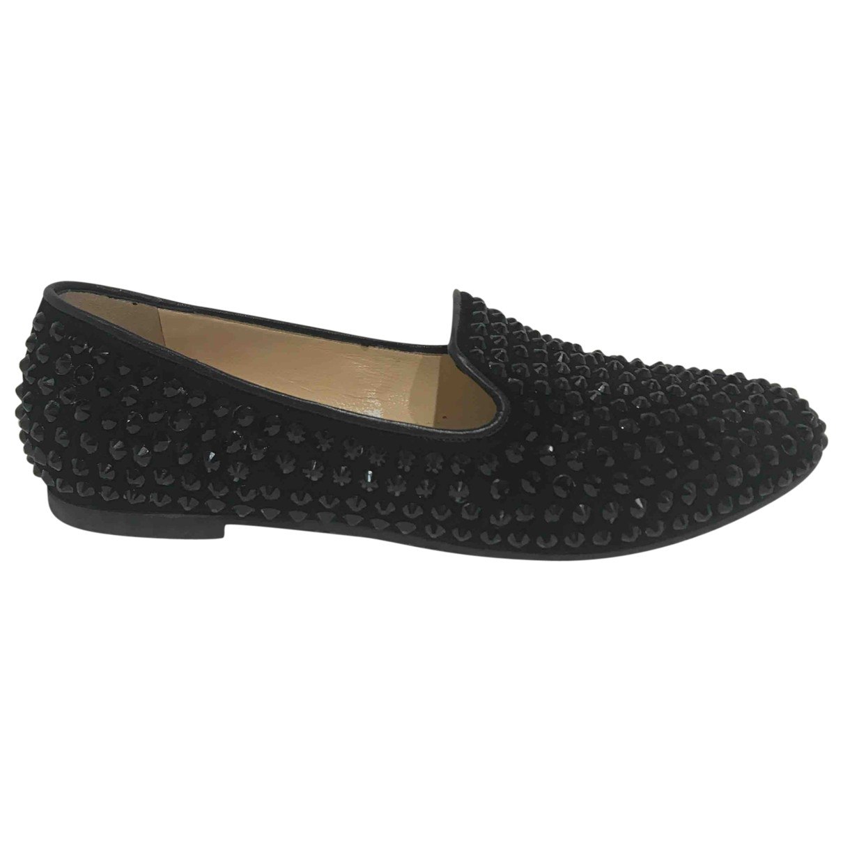 Flavio Castellani \N Black Suede Flats for Women 38 EU