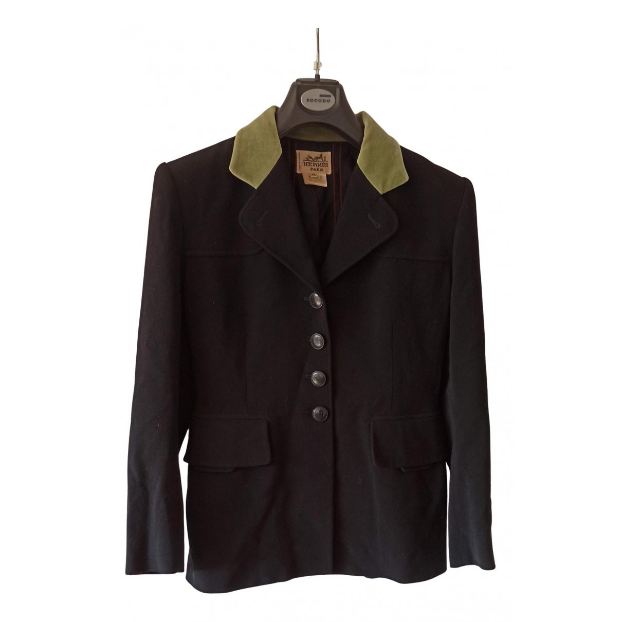 Hermes - Veste   pour femme en laine - noir