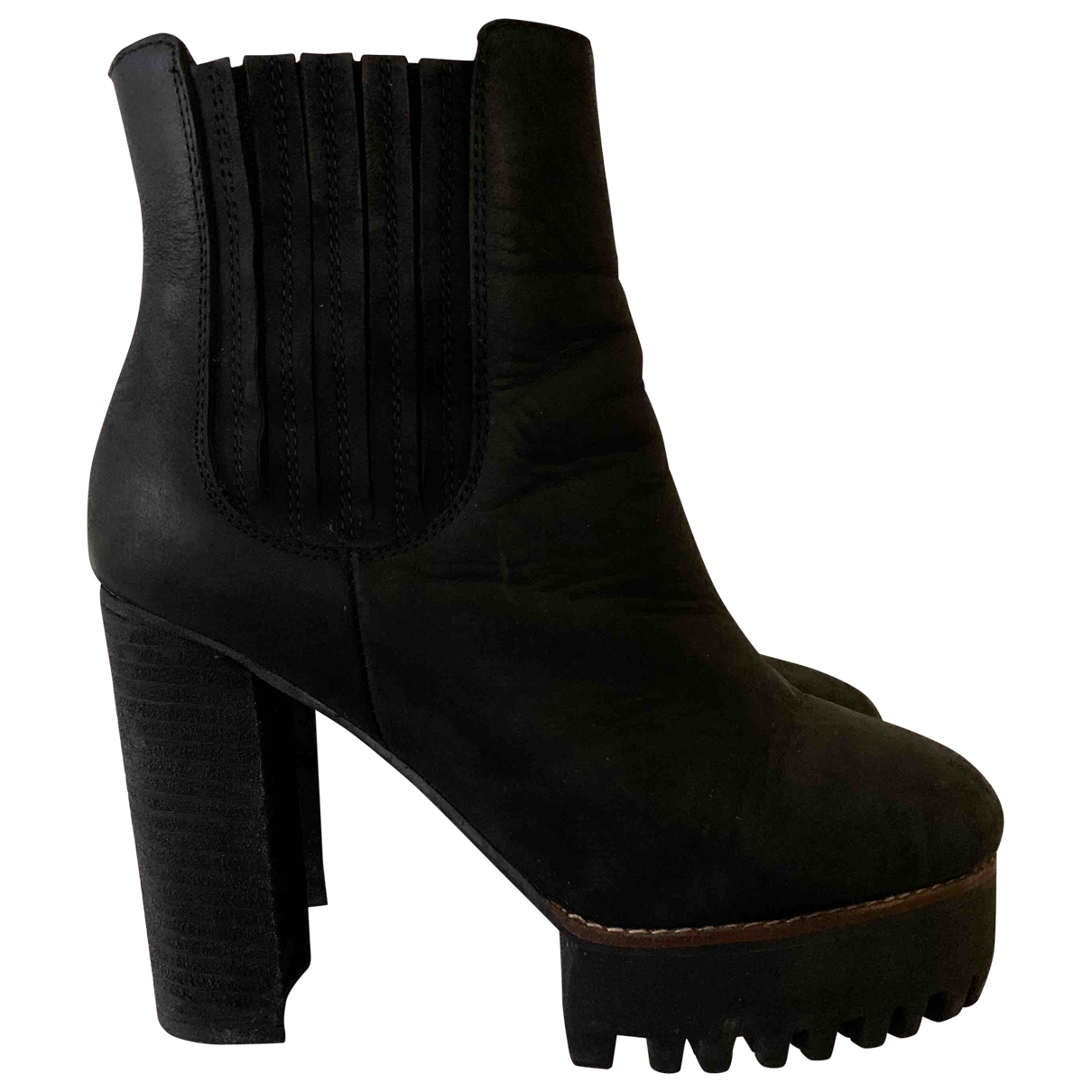 Jeffrey Campbell \N Black Suede Heels for Women 38 EU