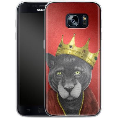 Samsung Galaxy S7 Silikon Handyhuelle - The King Panther von Barruf
