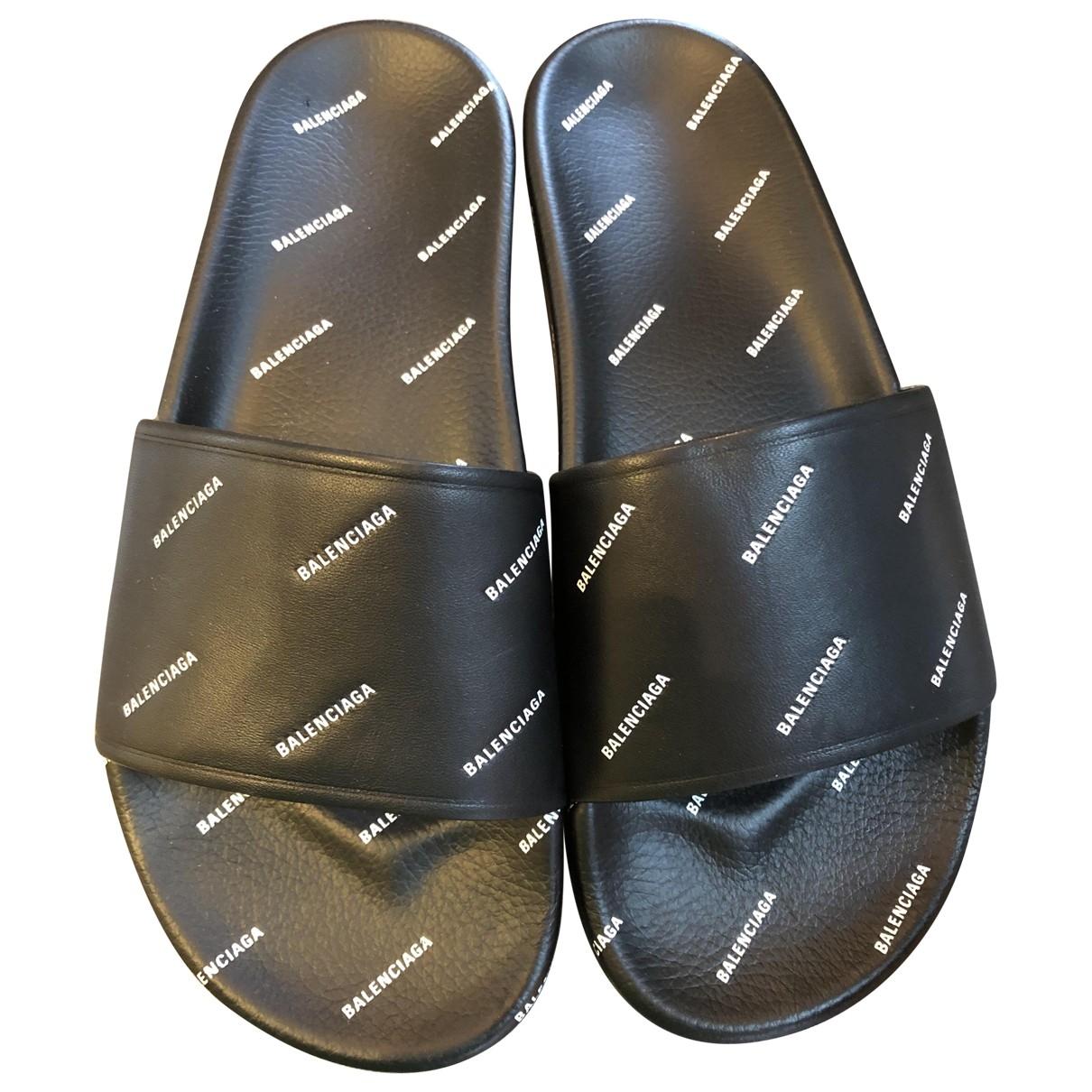 Balenciaga - Sandales   pour homme en caoutchouc - noir