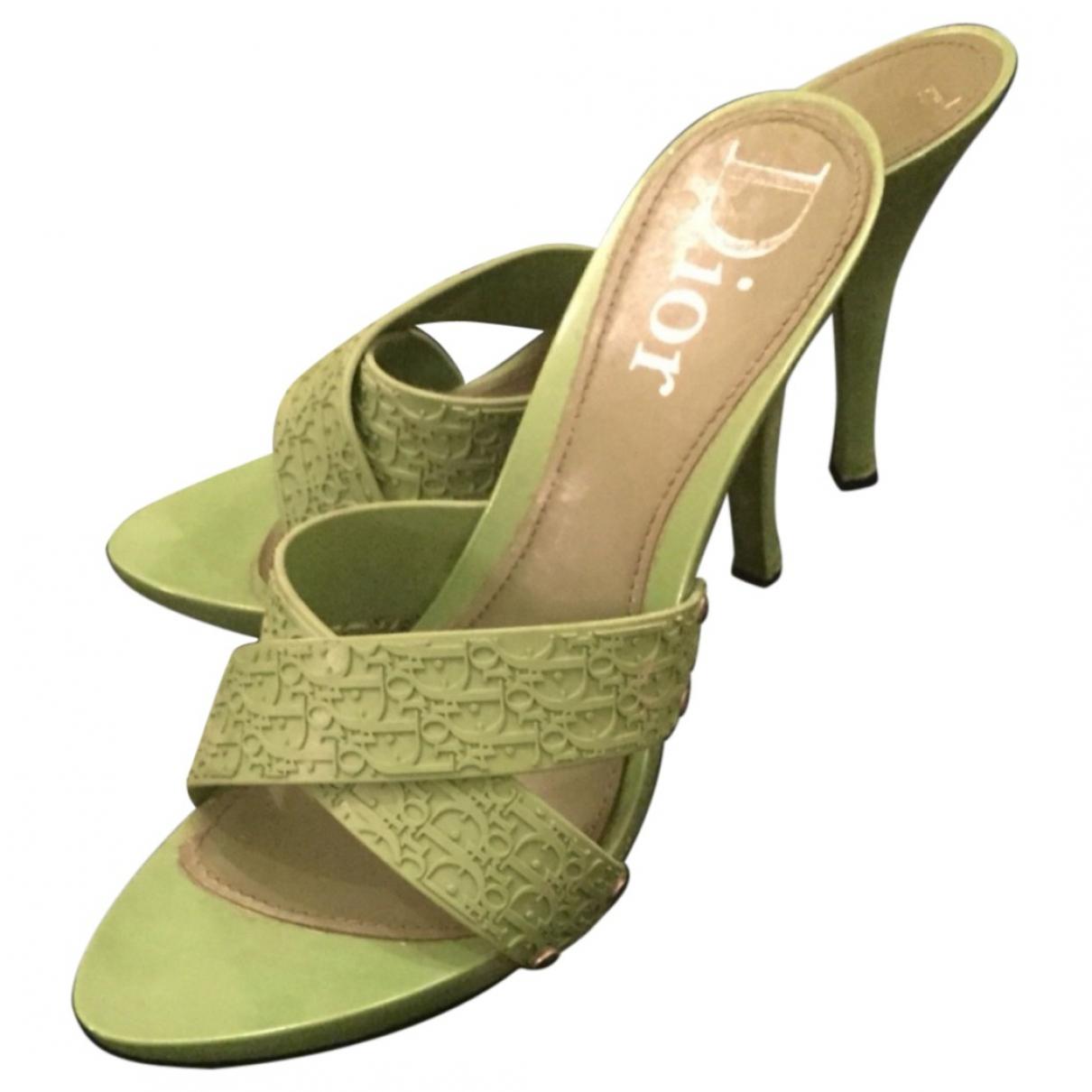 Dior \N Green Rubber Mules & Clogs for Women 39 EU