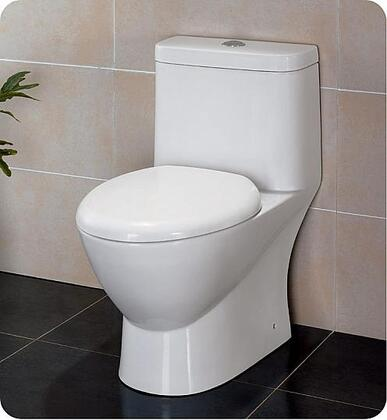 Serena Collection FTL2346 28 One-Piece Dual Flush Toilet with Soft Close Seat  WaterSense Certified and Elongated