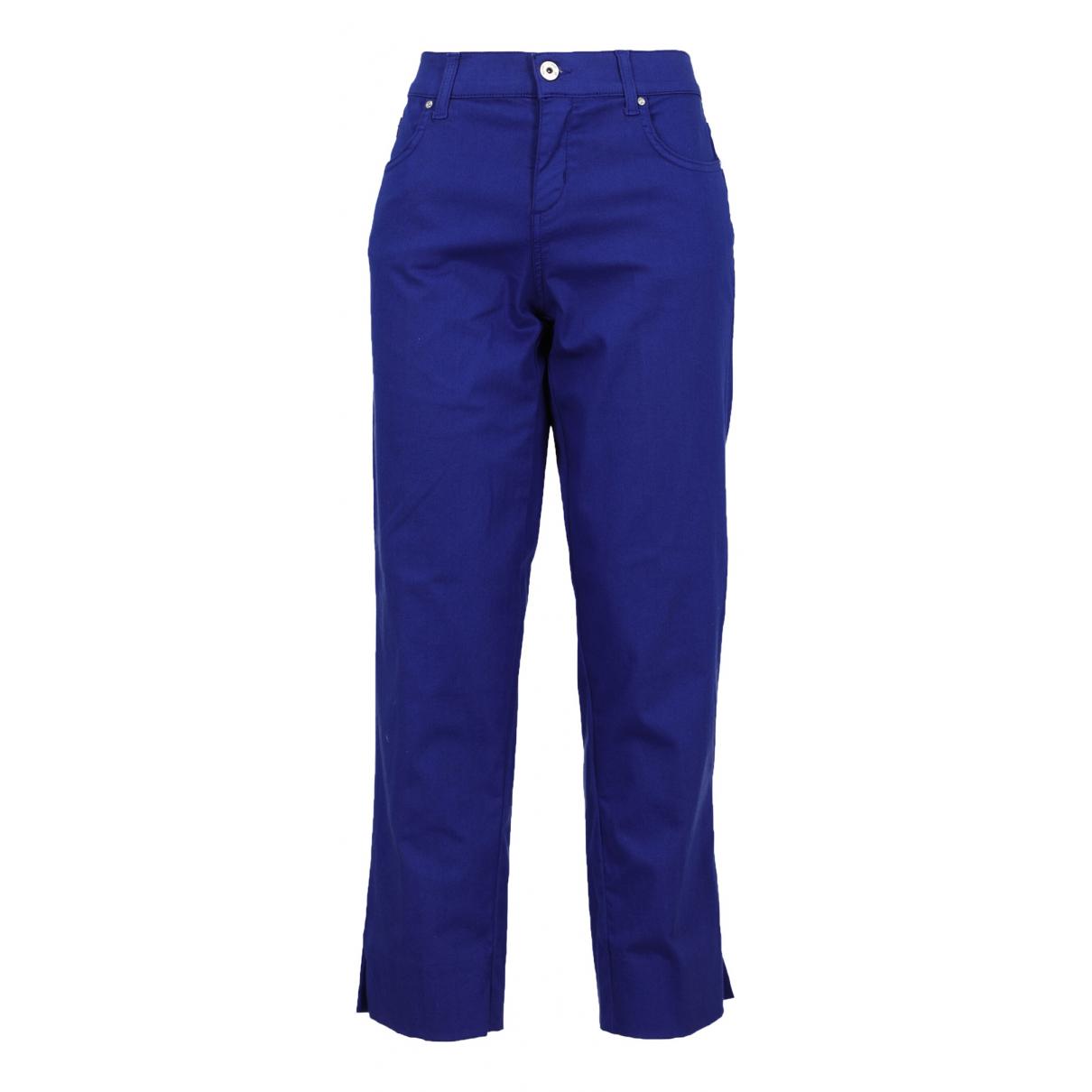 Pantalon en Algodon Azul Blumarine