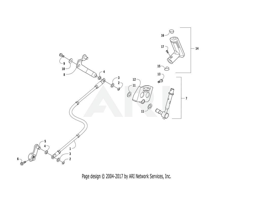 Arctic Cat OEM 3307-517 Shifter Assembly   (Inc. 8 12)
