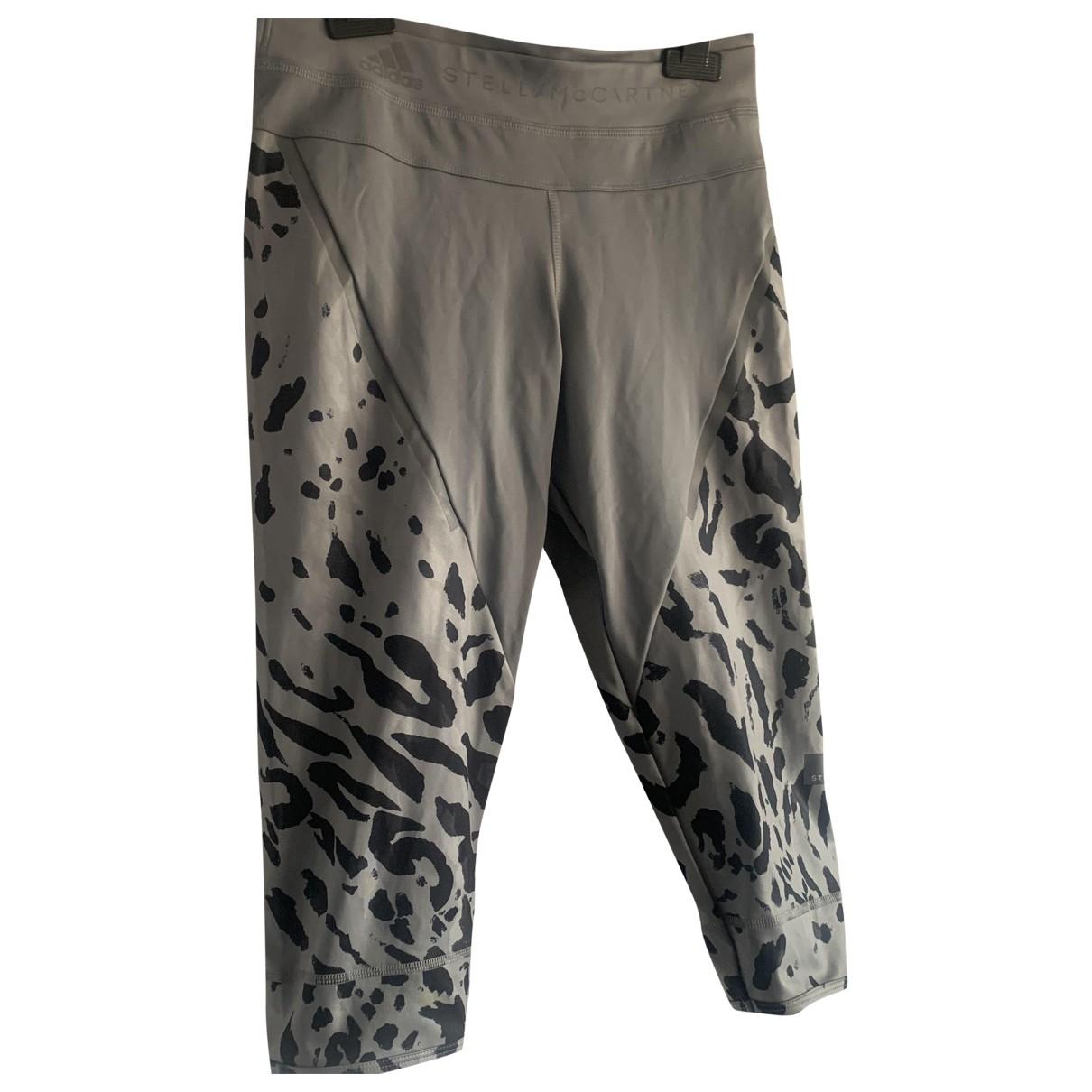 Stella Mccartney Pour Adidas \N Grey Cotton Trousers for Women 8 UK