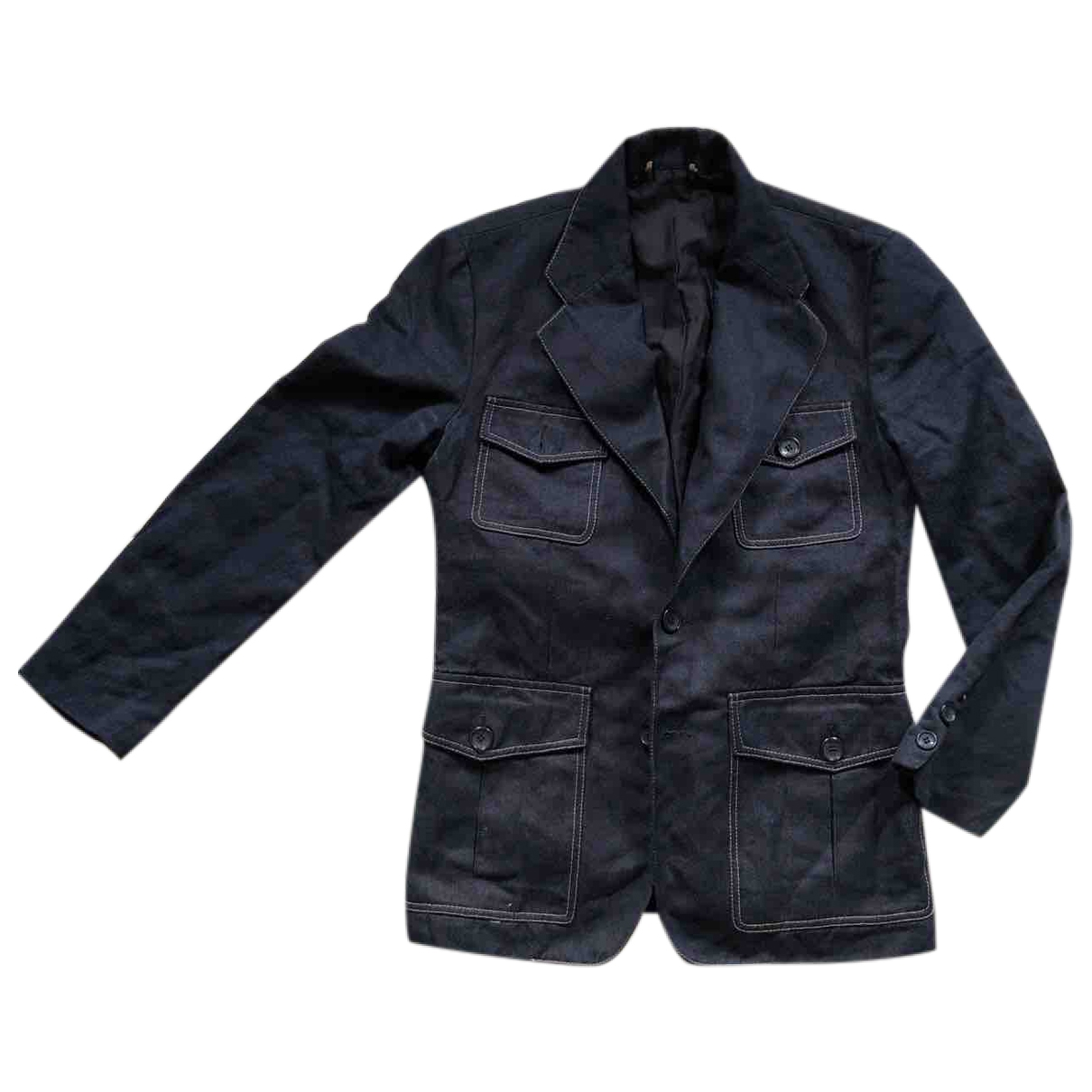 Louis Vuitton \N Jacke in  Marine Denim - Jeans
