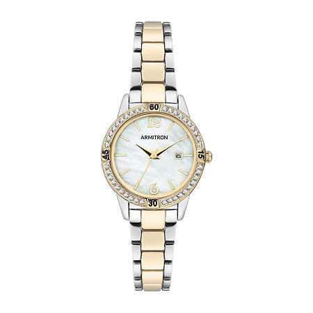 Armitron Womens Crystal Accent Two Tone Bracelet Watch-75/5658mptt, One Size , No Color Family