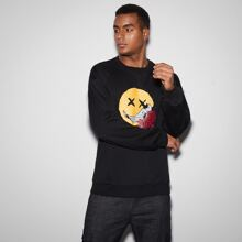 Pullover mit Blumen & Grafik Muster